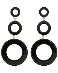 Forever 21 - Circle Drop Earrings - Lyst