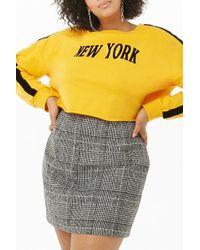137c970e311 Forever 21 Woolen Glen Plaid Zip-front Skirt in Black - Lyst
