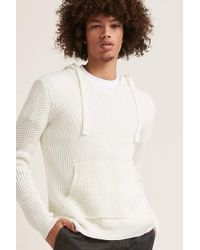 Forever 21 - 's Waffle-knit Hooded Jumper Sweater - Lyst