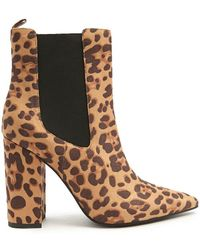Forever 21 - Leopard Print Ankle Boots - Lyst