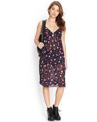 FOREVER21 - Blooming Floral Slip Dress - Lyst