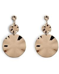 Forever 21 - Hammered Tiered Drop Earrings , Gold - Lyst