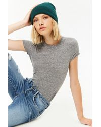 Forever 21 - Women's Heathered Knit Tee Shirt - Lyst