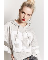 Forever 21 - 88 Graphic Marled Knit Hoodie - Lyst