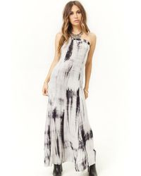 4c48b89383 Lyst - Forever 21 Plus Size Hooded Maxi Dress in Gray