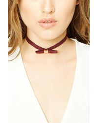 Forever 21 | Faux Suede Bow Choker | Lyst
