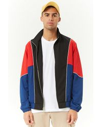 Forever 21 - Colorblocked Track Jacket - Lyst