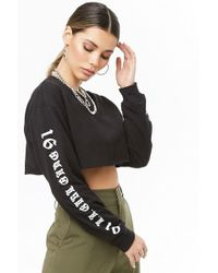 0d0c7bd98 Forever 21 - L.a. Girl Gang Graphic Cropped Tee - Lyst