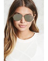 Forever 21 - Brow-bar Aviator Sunglasses - Lyst
