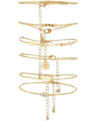 Forever 21 - Filigree Charm Bracelet Set - Lyst