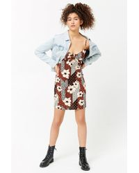 21f397381 Forever 21 - Floral Print Cami Dress , Ginger/black - Lyst