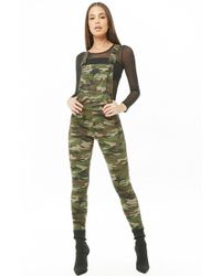 Forever 21 - Women's Camo Print Overalls - Lyst