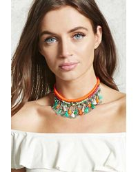 Forever 21 - Woven Statement Necklace - Lyst
