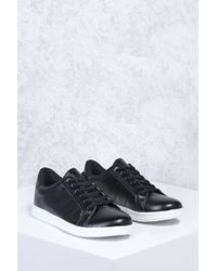 Forever 21 - Perforated Faux Leather Sneakers - Lyst