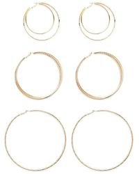 Forever 21 - Layered Hoop Earring Set - Lyst