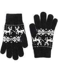 Forever 21 - Fair Isle Chenille Gloves - Lyst