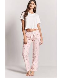 Forever 21 - Sheep Print Flannel Pyjama Trousers - Lyst
