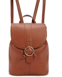 Forever 21 - Flap-top Faux Leather Backpack - Lyst