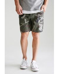 Forever 21 - Camo Print Cargo Shorts - Lyst