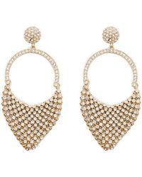 Forever 21 - Rhinestone Chainmail Drop Earrings - Lyst