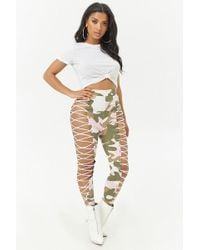 Forever 21 - Lace-up Camo Pants - Lyst