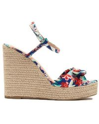 669e1d59201f Lyst - Forever 21 Dolce Vita Sophia Tropical Floral Wedges in Green