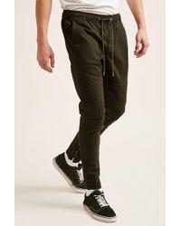 Forever 21 - 's Zippered Moto Jogger Pants - Lyst
