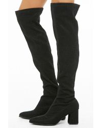 Forever 21 - Lemon Drop By Privileged Over-the-knee Sock Boots - Lyst