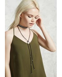 Forever 21 - Studded Layer Choker Set - Lyst