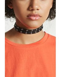 Forever 21 - Strappy Faux Leather Choker - Lyst