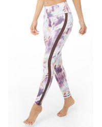 7dae64bdd43fd Forever 21 Floral Print Leggings in Pink - Lyst