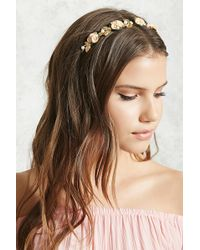 Forever 21 - Floral Faux Pearl Headband - Lyst