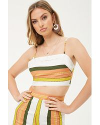 Forever 21 - Women's Selfie Leslie Striped Cropped Camisole Top - Lyst