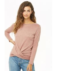 Forever 21 - Twist-front Marled Top - Lyst