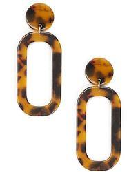 Forever 21 - Tortoise Cutout Drop Earrings - Lyst