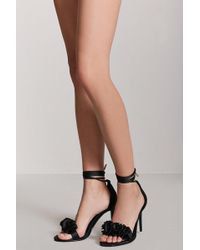 Forever 21 - Floral Ankle-wrap High Heels - Lyst