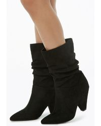 Forever 21 - Women's Slouchy Faux Suede Boots - Lyst