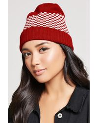 Forever 21 - Checkered Knit Beanie - Lyst