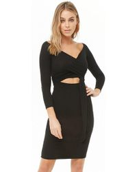 Forever 21 - Ribbed Cutout Dress - Lyst