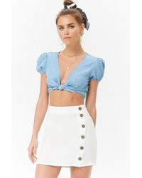 fc0a702aa30 Forever 21 Woven Skater Skirt in Pink - Lyst