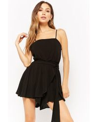 Forever 21 - Wrap-front Homecoming Skort Romper - Lyst
