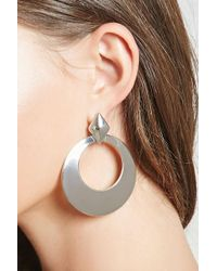 Forever 21   Oversized Drop-hoop Earrings   Lyst