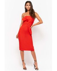 Forever 21 - Strapless Bow Sheath Prom Dress - Lyst