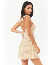 Forever 21 - Ruffle-trim Striped Mini Dress - Lyst