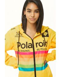 "Forever 21 - Giacca a vento ""Polaroid"" - Lyst"