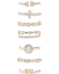 Forever 21 - Assorted Rhinestone Ring Set - Lyst
