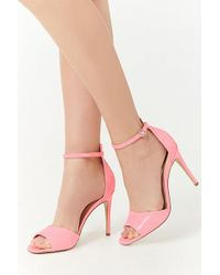 Forever 21 - Faux Patent Leather Ankle Strap Stilettos - Lyst
