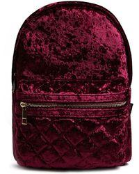 Forever 21 - Crushed Velvet Backpack - Lyst