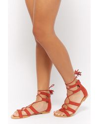 Forever 21 - Faux Suede Gladiator Sandals - Lyst