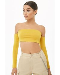 6c6fec9f38851 Forever 21 Plus Size Waffle-knit One-shoulder Top in White - Lyst